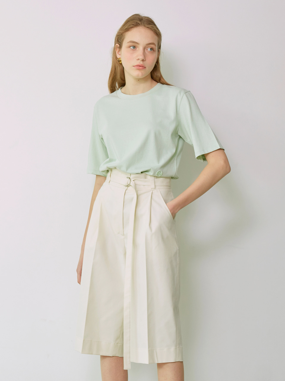 JUDE_Cotton T-Shirt_Mint